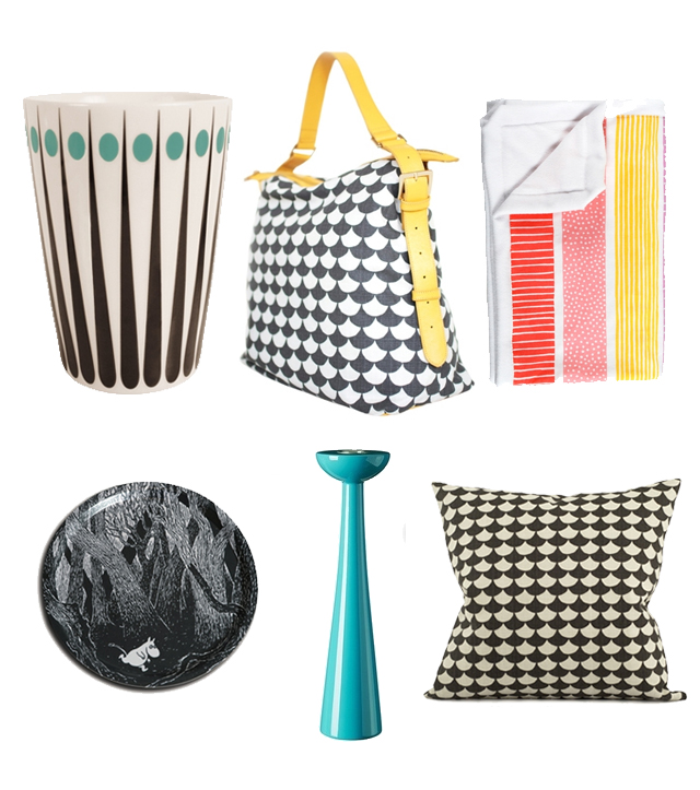 items from northlight home store - scandinavian style living - cups, bags, blankets, candlesticks