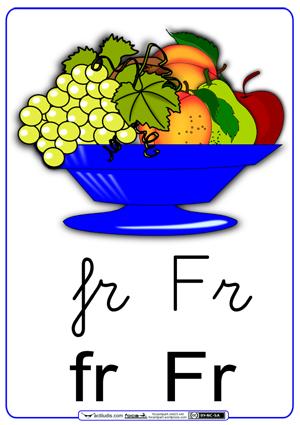 Fichas para trabajar las sílabas fr_