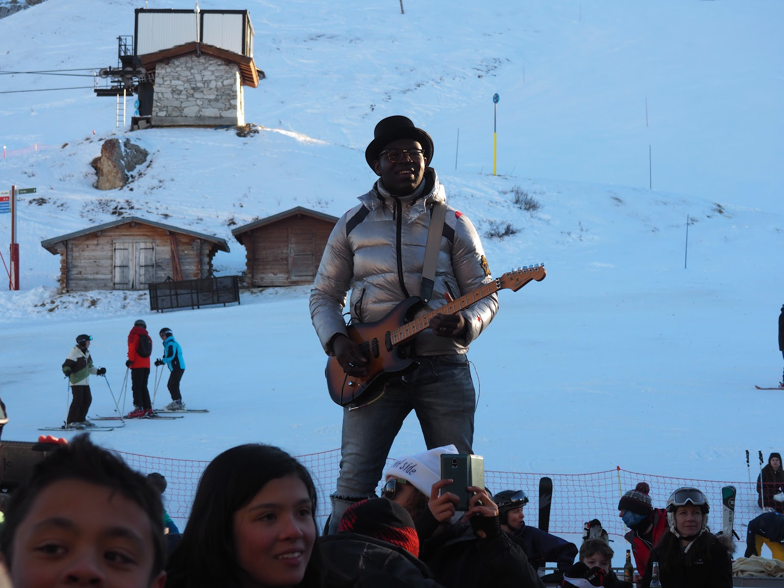 Guitar Player at La Folie Douce, Val d'Isere, France