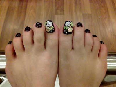 Girls Fashions Toe Nail Art