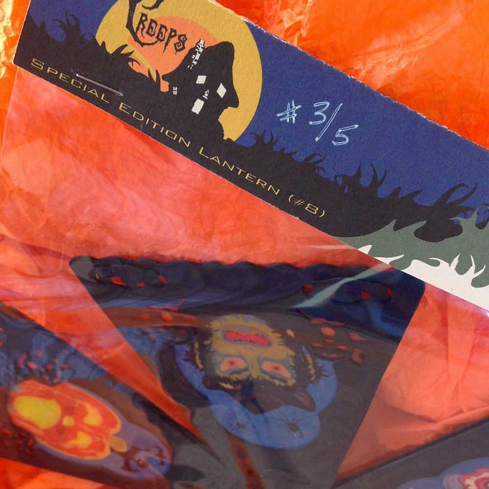 close-up shot of Creeps packaging shows hand-numbered item by artist Bindlegrim