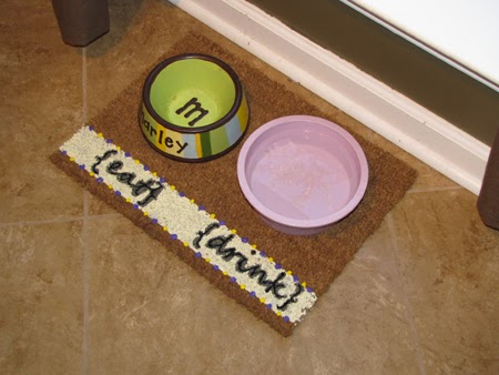 Sew Rockin' | Free Dog Food Bowl Mat Tutorial