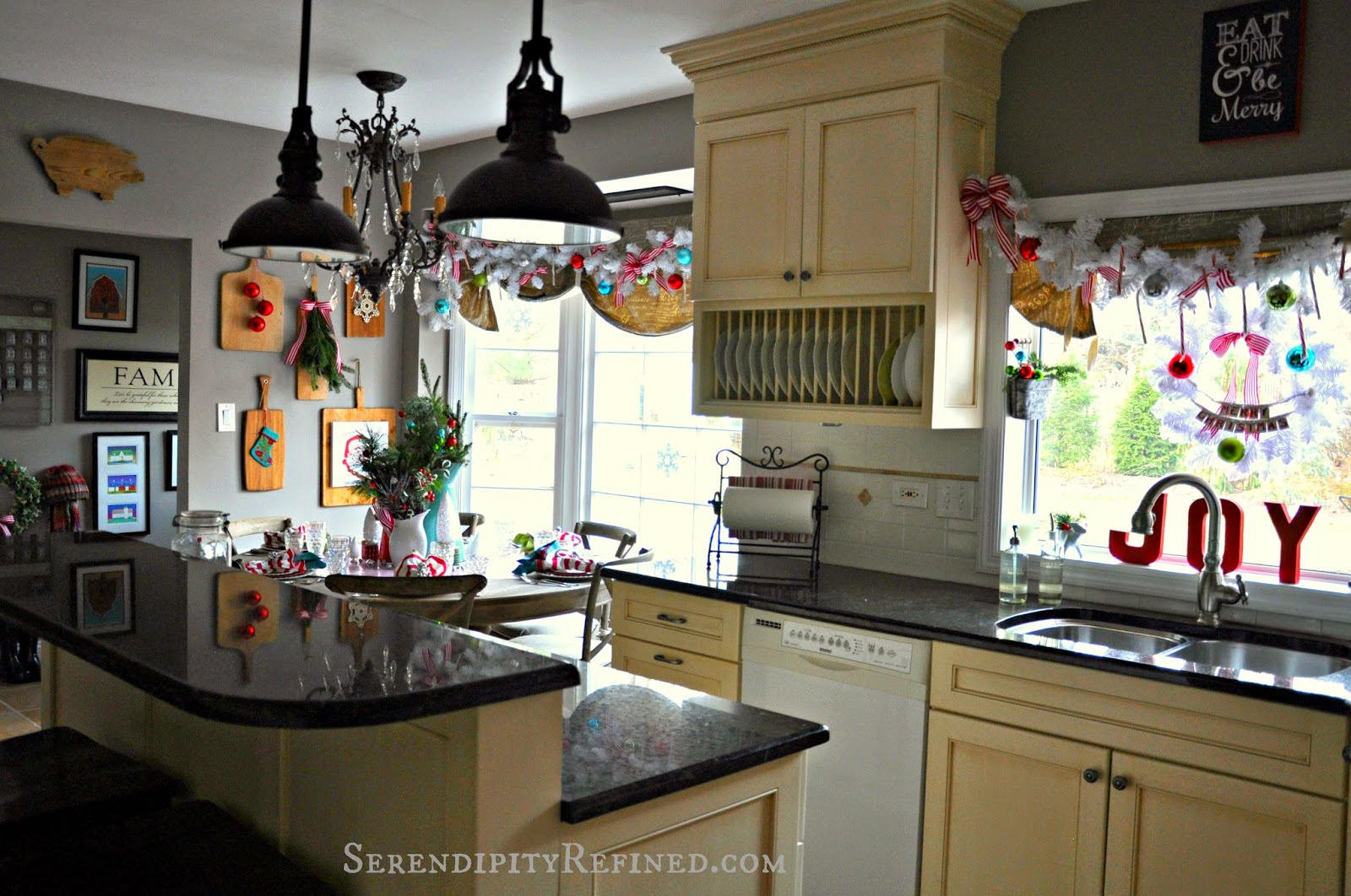 Serendipity Refined Blog Candy Cane Stripe Christmas Kitchen Welcome Home Tour