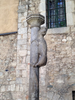 Cul de la Lleona. Girona. Llegendes. Barri Vell. Monuments.