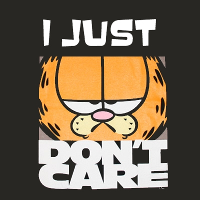 Garfield I seriously don t care 