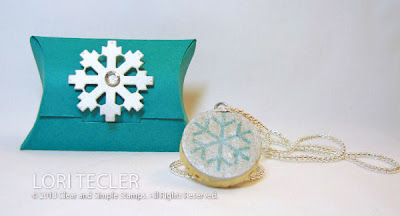 Snowflake Necklace Gift Set-designed by Lori Tecler-Inking Aloud-stamps and dies from Clear and Simple Stamps