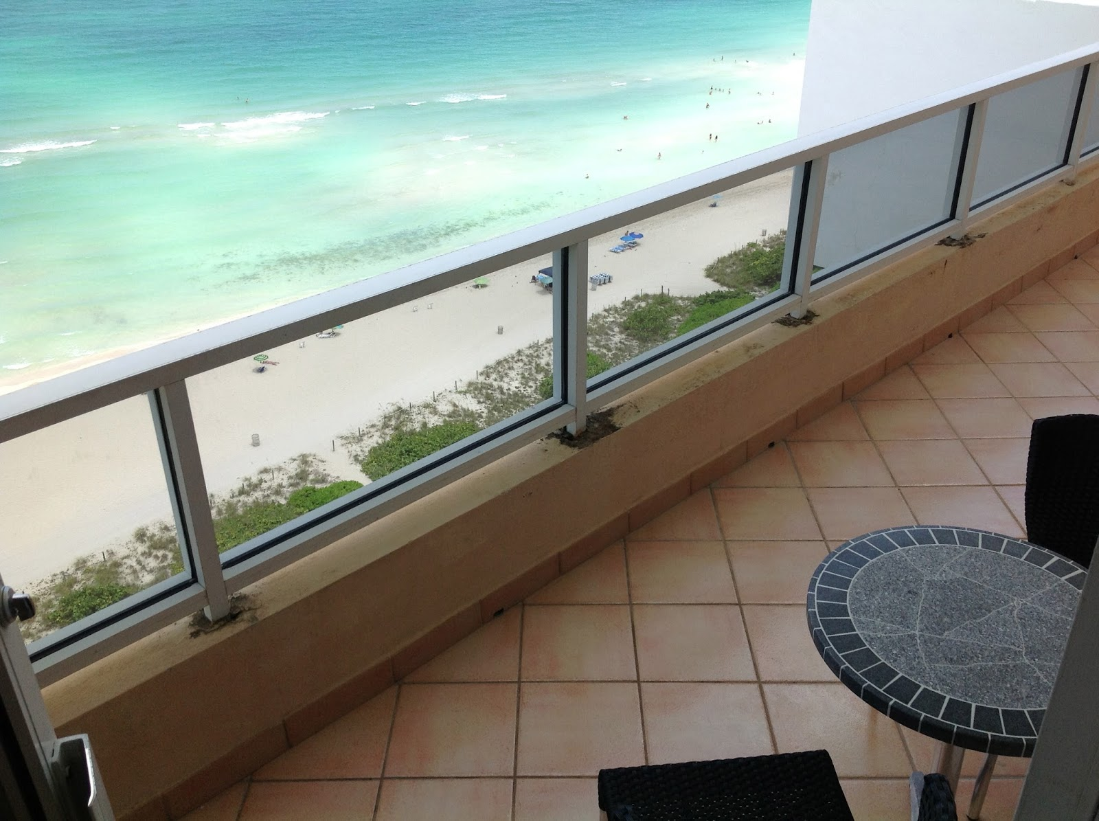Seasonal rental in miami beach 1 bedroom facing the for 18th floor balcony cover