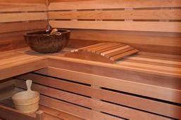 Ambiente de sauna seca.