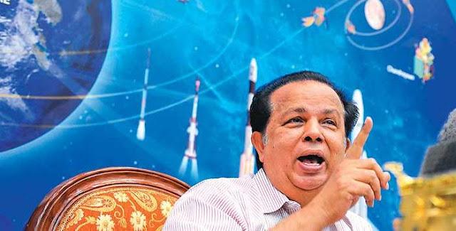 G Madhavan Nair, former chairman of ISRO. Credit: outlookindia.com