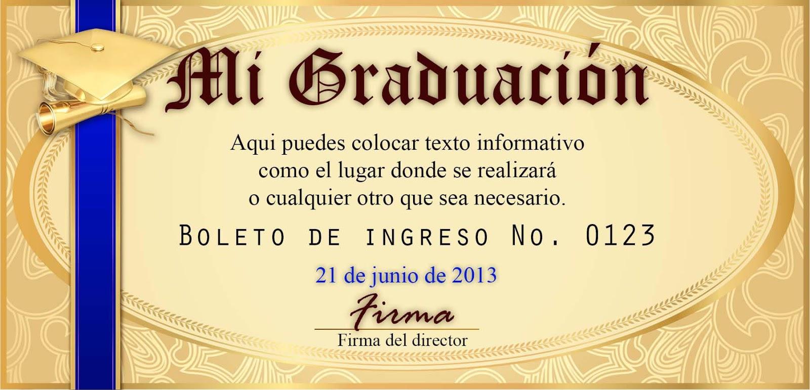 Boletos para evento de graduación - Recursos para impresores y ...