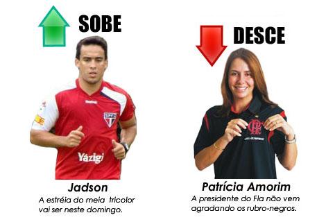 Jadson e Patrícia Amorim no sobe e desce da semana