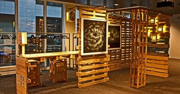 Mueblesdepalets.net: Expositor para obras de arte y escritorio