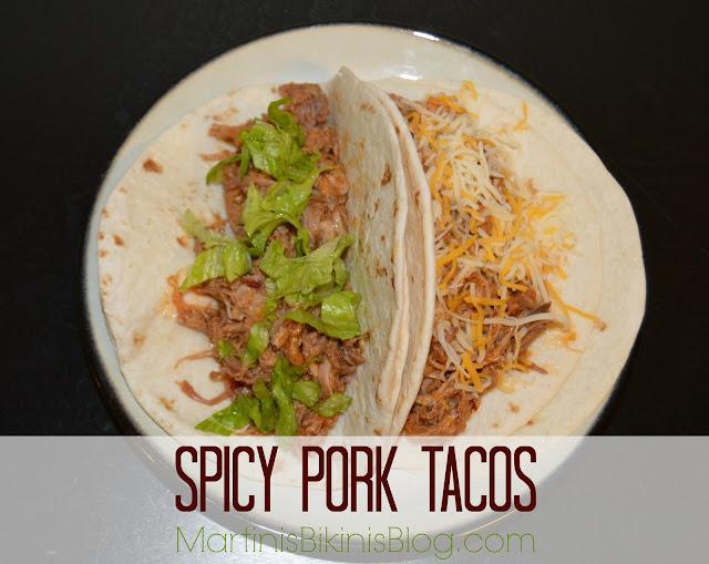 Slow Cooker Spicy Pork Tacos - Martinis & Bikinis