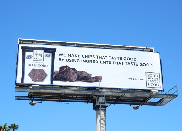 food should taste good chips billboard