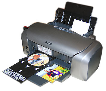 Epson R230 Printer Khusus Cetak CD/DVD