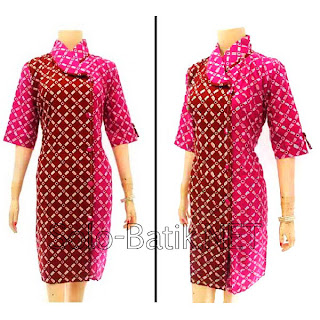 DB2974 - Model Baju Dress Batik Modern Terbaru 2013
