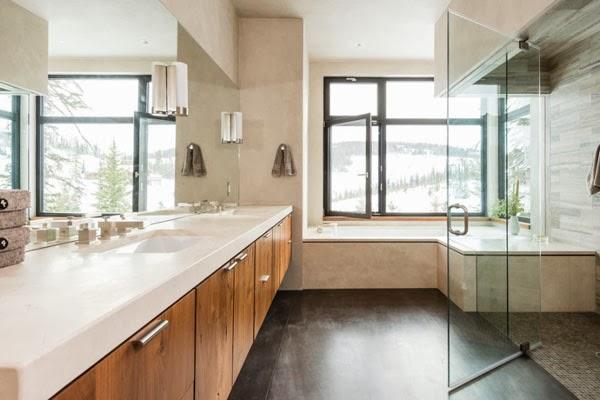 amenajari, interioare, decoratiuni, decor, design interior, cabana, munte, baie