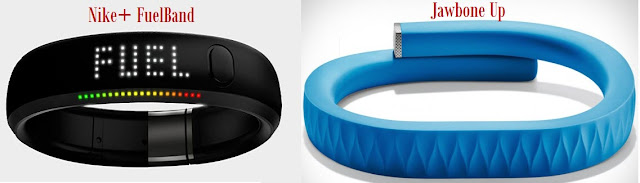 Nike Fuelband and Jawbone Up