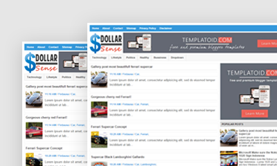 Dollar Sense Blogger Template