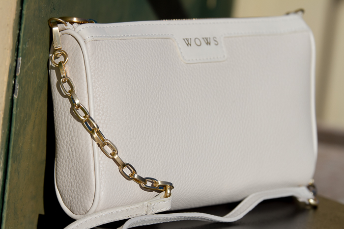 Ivory MAGGIE Cross-Body Bag- Pebble Grain by GIGI New York