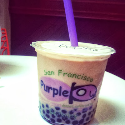 milk tea at Purple Kow