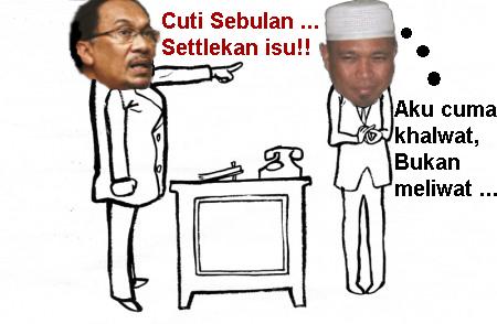 """Anwar mengarahkan Ketua Penerangannya, Ustaz Dr. Badrulamin """"Burit"""