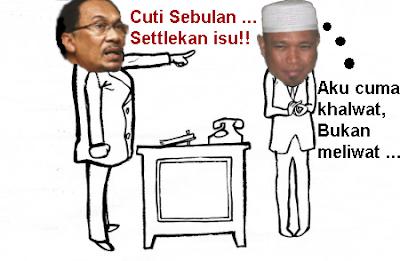 ... sebulan sehingga selesaikan kes khalwat dengan isteri orang di Pahang