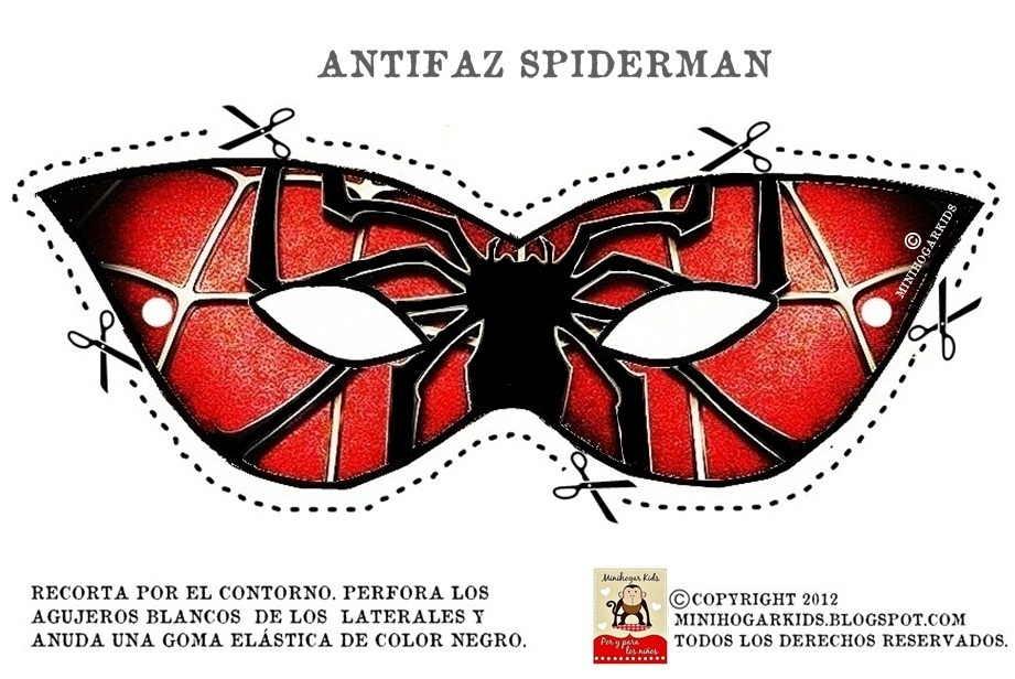 """BONITO ANTIFAZ DE """"SPIDERMAN"""" en carnavales, en cualquier fiesta de ..."""