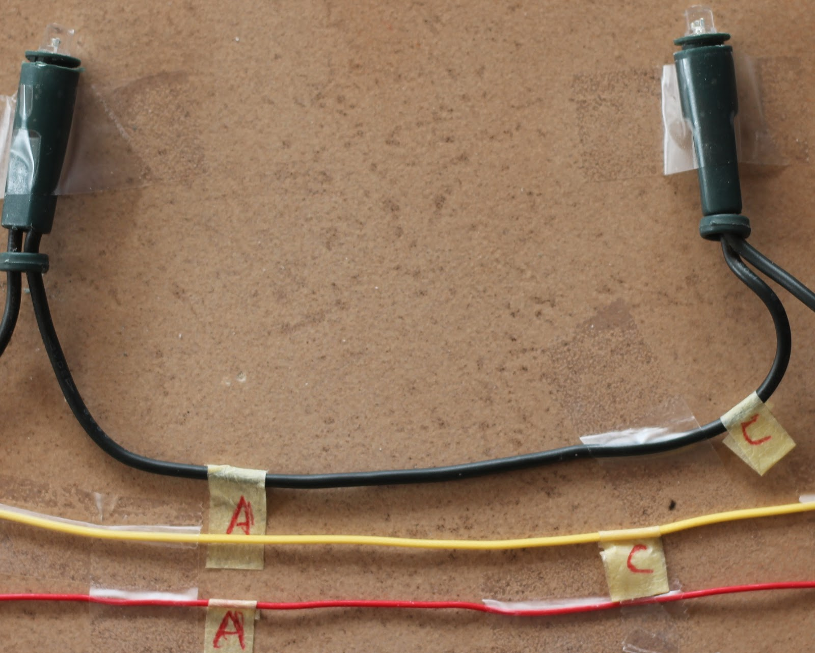 Diy Christmas Lights Modify Convert 120vac Set Of Led To Ac Wiring Diagram Photo Shows Labelling Before Joining