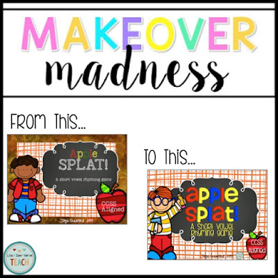 short vowels, apples, SPLAT, literacy stations, games