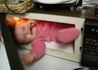 baby in a microwave