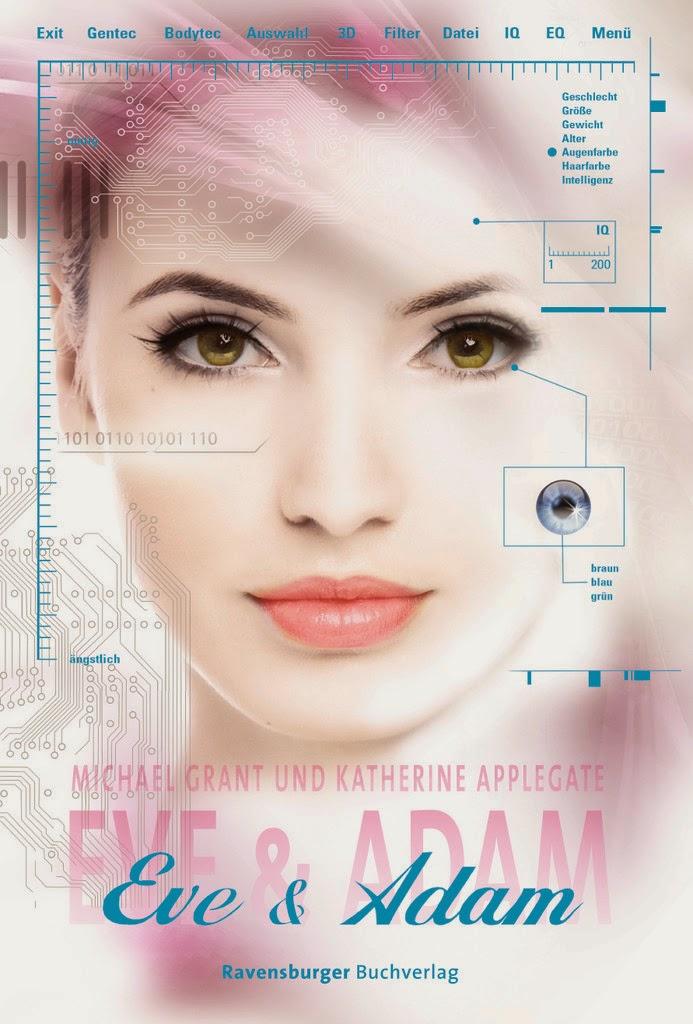 http://www.amazon.de/Eve-Adam-Katherine-Applegate/dp/3473401048/ref=sr_1_1?s=books&ie=UTF8&qid=1395083905&sr=1-1&keywords=eve+%26+adam