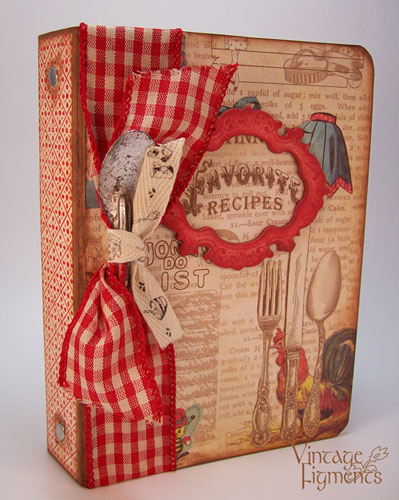 Food Book Cover Maker : Vintage figments crafty secrets recipe book