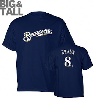 Big and Tall Ryan Braun Jersey T-Shirt