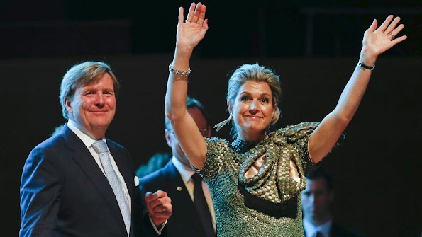 King Willem-Alexander and Queen Maxima of The Netherlands visited to Master Class Electronic Dance Music (EDM)
