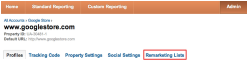 Remarketing-List in Google Analytics