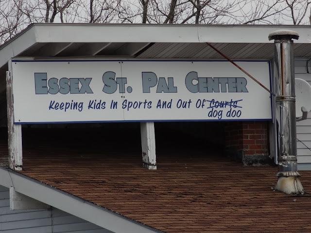 Bangor_Dog_Park,location,sign,PAL_Center,Essex_Street,woods