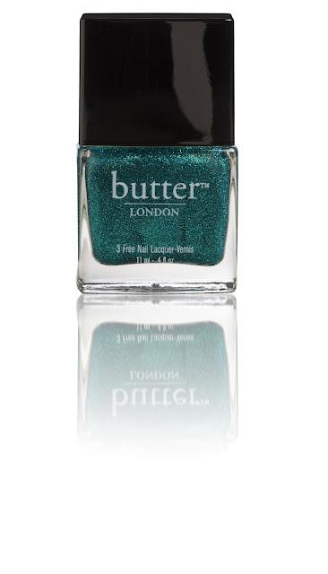 Green glitter nail polish from Butter London
