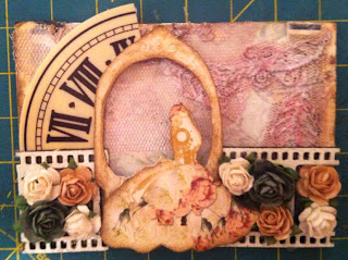 mixed media bacgkground, how to do mixed media bacground, ATC, Shabby vintage, title=
