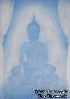 Lao artist profile - paintings by Thep Thavansouk