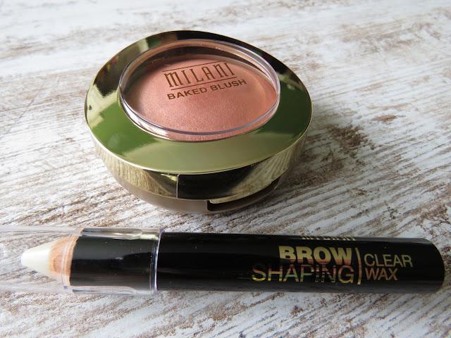 MILANI Baked Blush Luminoso, MILANI Brow Shaping Clear Wax