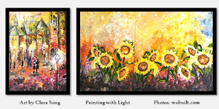 Flowers, by Clara Song - original artwork, oil on canvas paintings