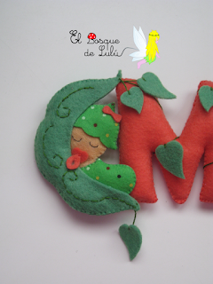 nombre-fieltro-decoración-infantil-bebé-name-banner-felt-elbosquedelulu-hechoamanoparati-letras-decorativas
