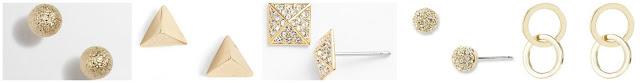J. Crew Factory Pinball Stud Earrings $11.00 (regular $18.50)  Lonna & Lilly Pyramid Stud Earrings $13.50 (regular $18.00)  Nadri Pyramid Stud Earrings $14.98 (regular $30.00)  Nadri Small Pave Stud Earrings $30.00 (regular $40.00)  Lord & Taylor Interlocking Hoop Stud Earrings $40.00 (regular $80.00)
