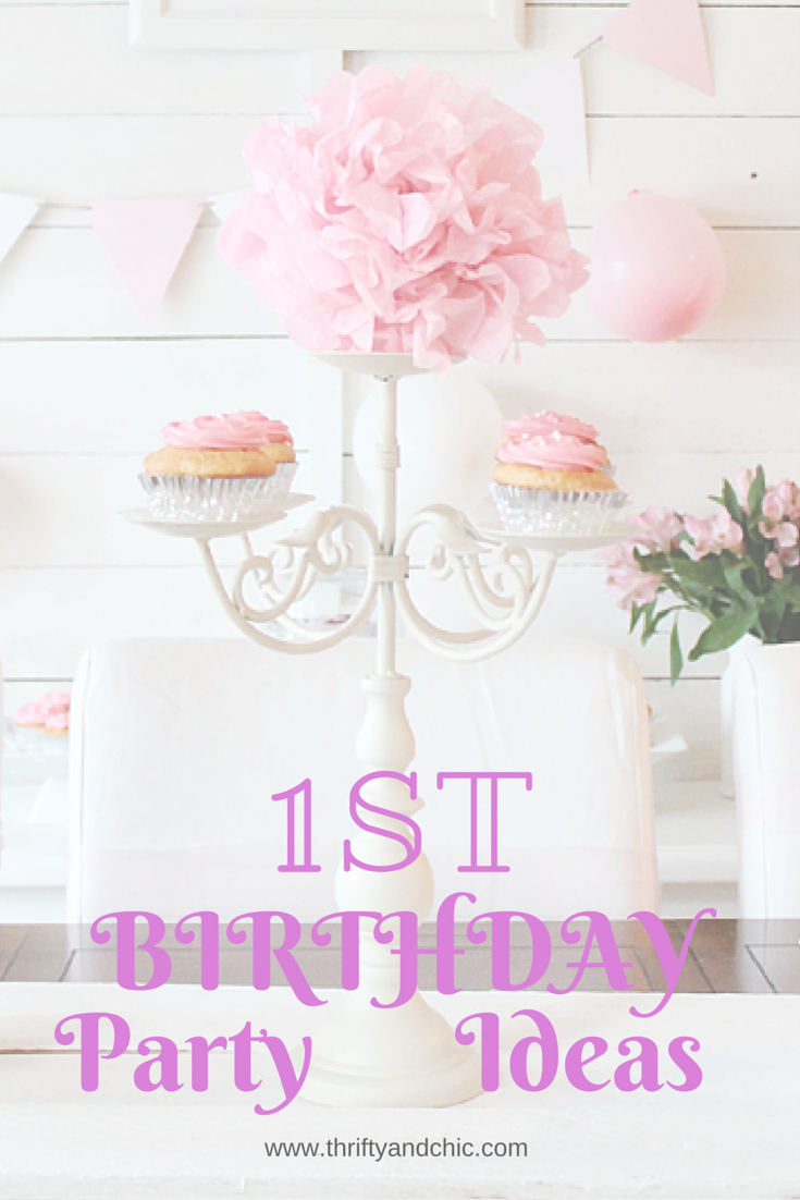 Birthday table decorations for girls - Girls First Birthday Party Decorating Ideas