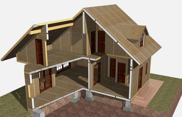 Каркасно-щитовой дом