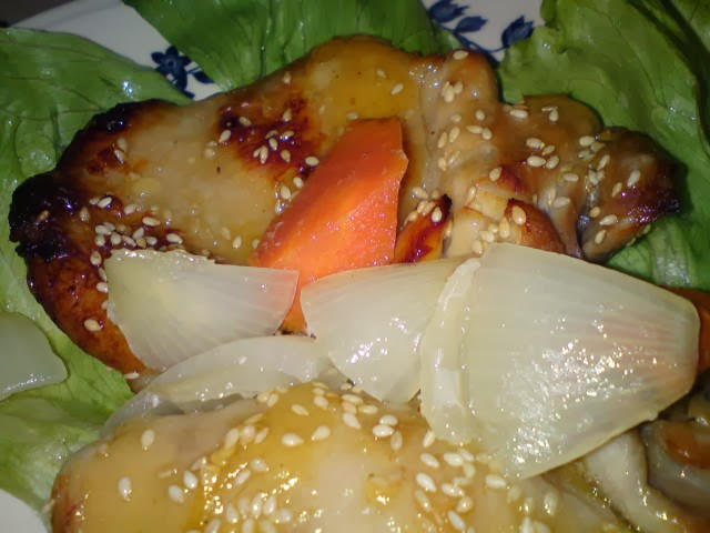 ... sweet sourish taste from the plum sauce. I added some salt and pepper