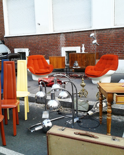 Fauteuils design / Brocante Amiens / Octobre 2015 / Photos Atelier rue verte /