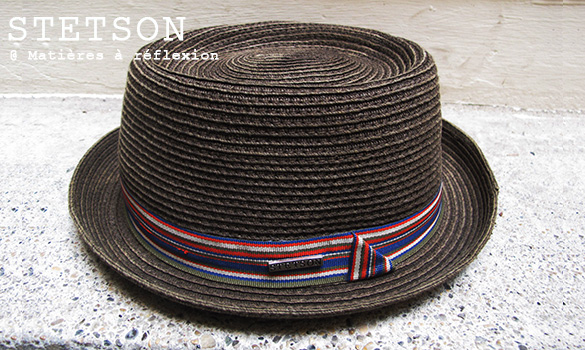 Chapeau paille jazzy Stetson Homme Moody brown