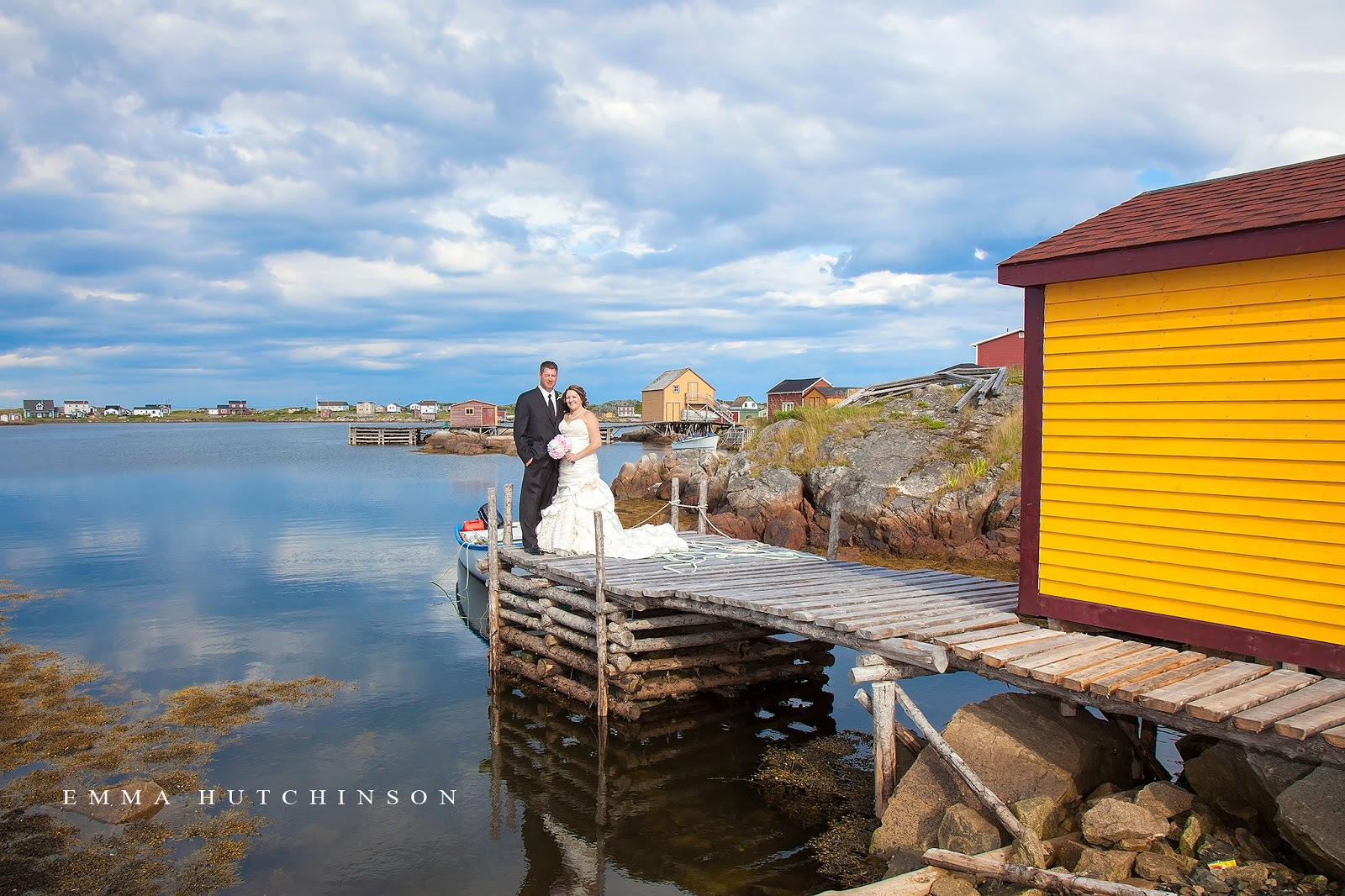 Emma Hutchinson Photography photographs weddings in Tilting, Fogo Island